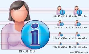 Patient-woman info Icon by medical-icon-set