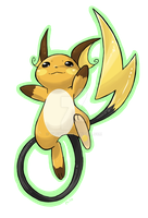 Commission: Raichu Jumpu! by NiloXylo