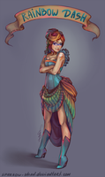 Rainbow Dash humanization by sparrow-chan