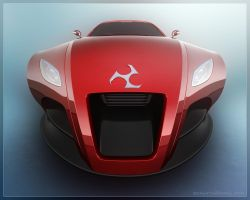 Concept Car - Wide Front by 3DnuTTa