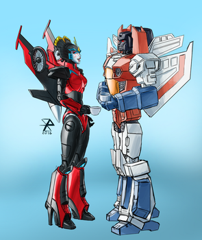 Transformers - Teatime (Commission) by synth-brave