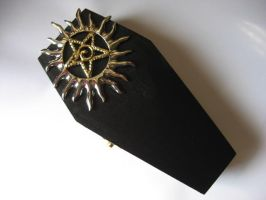 Sun Pentagram Coffin Box by SpellsNSpooks