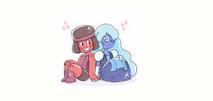 Ruby and Sapphire by Cupcakez322