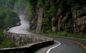 Winding Hawk's Nest Road by rchsushi