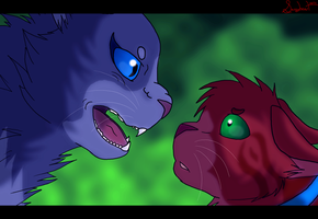 'you threaten our clan...' by SassyHeart