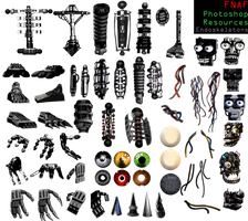 FNAF Photoshop resources (UPDATE 4)- Endoskeletons by Dangerdude991