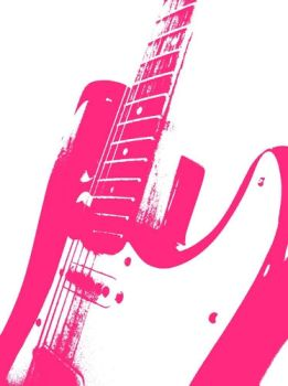 Pink Guitar by brokentoi