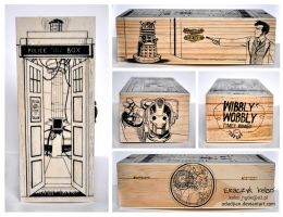 Doctor Who wooden box 2 by ElaRaczyk