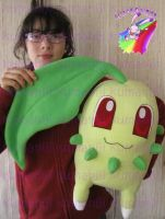 chikorita plush real size handmade by chocoloverx3