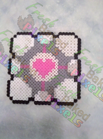 Companion Cube Bead Sprite by FreshBakedPixels