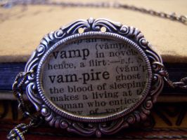 Dictionary Vampire Necklace by SteamPunkJennie
