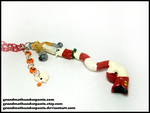 Holy Pumpkin Keyblade Necklace by GrandmaThunderpants