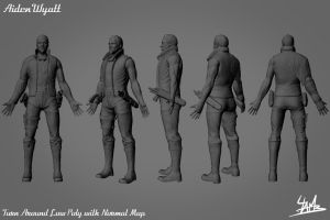 3D Character 01: Aiden Wyatt Low Poly 2 by Ulamb