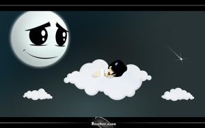 Sleeping above Cloud BG by Another-Art