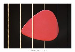 Strings with plectrum by karenbirch