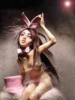 Playmate bunny sculpture by cdlitestudio