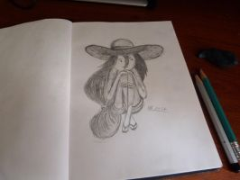 Practice with pencils - Marceline by NikolaiSirone