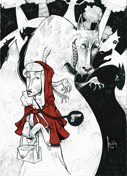 Little Red Riding Blood by robiant