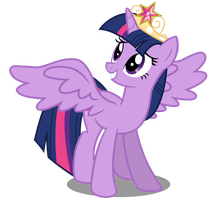 Alicorn Twilight w/ Coronation Tiara by CaliAzian