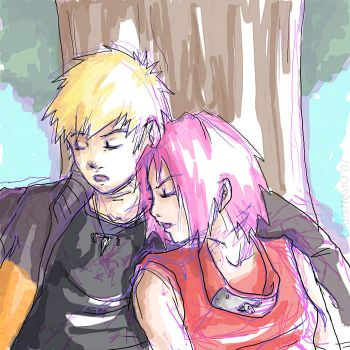NaruSaku: A Tree to Rest Upon by lauraneato