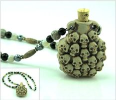Skull Treasure Vial Necklace by DesignerMoon