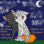 Silverpaw and Rowanpaw by insanityNothing