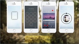 WINTER IOS8 SETUP! by tumblrgod