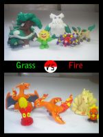 Clay pokemon Grass vs Fire