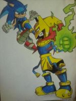 Enerjak vs. Sonic by android17lover