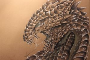 Dragon portrait by OpheliaArts