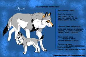 Dyami's information sheet by Aquene-lupetta
