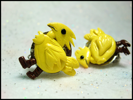 Chocobo Clip-On Earrings by GrandmaThunderpants