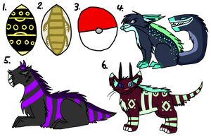 Mixed Adopts :OPEN: by Ink--Beast