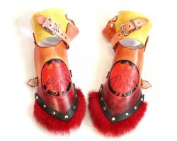 Leather Phoenix Gauntlets by SerenFey