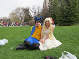 Lucario and Mareep Gijinka by CosplayCrazed