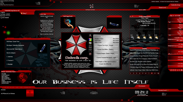Umbrella for Rainmeter by Eclectic-Tech