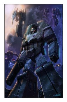 Transformers: Autocracy 4 cover by LivioRamondelli