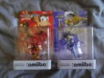 The Diddy Kong And Sheik amiibo Figures by shnoogums5060