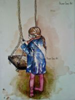 'Girl on Swing' by eleanorjonesart