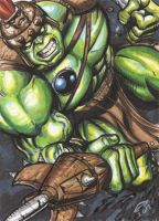PLANET HULK SKETCH CARD COMMISSION by AHochrein2010