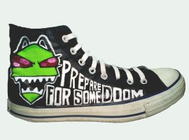 Invader Zim Chucks by ectomurf