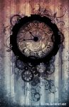 STEAMPUNK clock by AkiMao