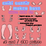 Waitress Chibi Outfit Maker SHOE ADD ON by Omega-Fluff