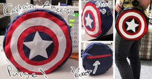 Captain America Purse by rusty-polished