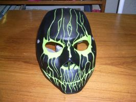 Cast Mask Black/Green with final coat by foxdog77