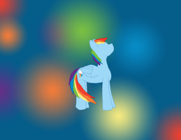 Commission: Rainbow dash wallpaper by WoefulWriters
