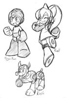 MegaMan sketches by rongs1234
