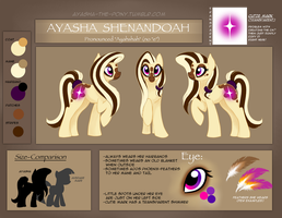 Reference Sheet Ayasha-the-Pony by EleanorTopsie