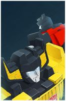 Sideswipe, Sunstreaker by LONEOLD