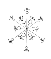 Snowman Snowflake Line art by Geak-of-Nature